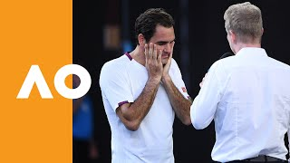 """Roger Federer: """"You've got to get lucky sometimes!"""" 
