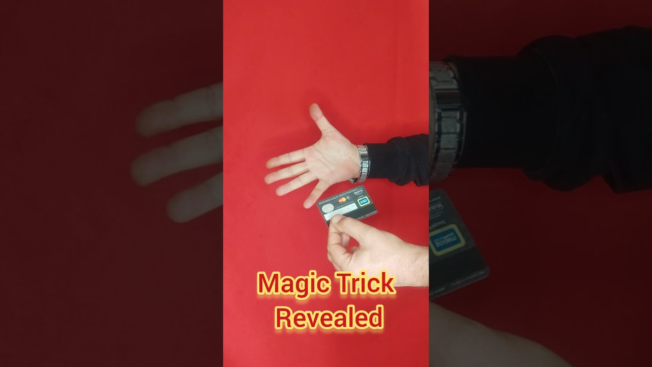 Incredible Magic Technique Exposed With ⌚ Charge Card #shorts thumbnail