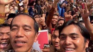 Presiden Jokowi Nge-vlog Dengan 600 Pendamping Penerima Program Keluarga Harapan