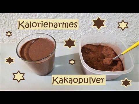 Kalorienarmes Kakaopulver anstatt die Tafel Schokolade!
