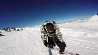 Parnassos Greece snowboarding 2017