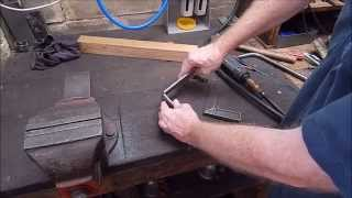 How to easily make a small radius bend in flat steel - general fabrication tip
