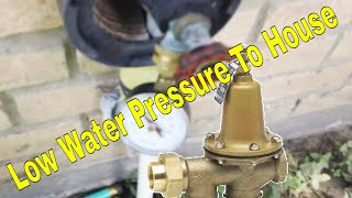 Low Water Pressure To House | How To Plumbing
