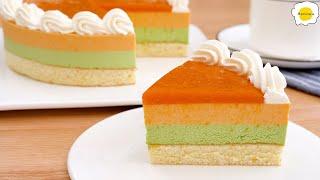 Apricot and Pistachio Mousse Cake 杏子开心果慕斯蛋糕 Gâteau mousse aux abricots et à la pistache