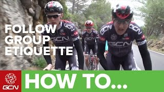 How To Ride In A Group - Group Riding Etiquette