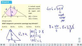 Eğitim Vadisi 11.Sınıf Matematik 13.Föy Çember ve Daire Konu Anlatım Videoları