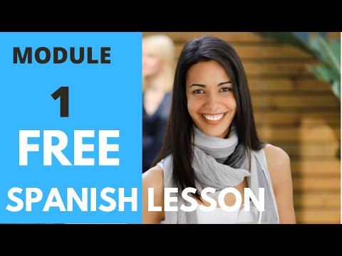 MODULE 1- Free Spanish For Beginners