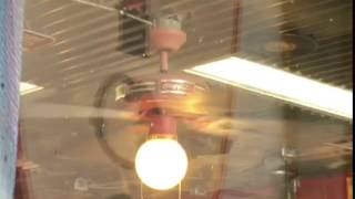 "FTA: 44"" Coca Cola Ceiling Fan in a Barber Shop"