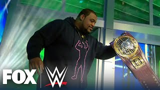 Keith Lee on leaving possible NFL career: 'This called, had to answer' | WWE BACKSTAGE | WWE ON FOX