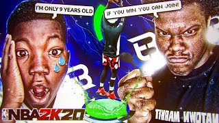 i RECRUITED a 9 year old to Truly Blessed...*HE CRIED*😥(Emotional)😩 NBA 2K20