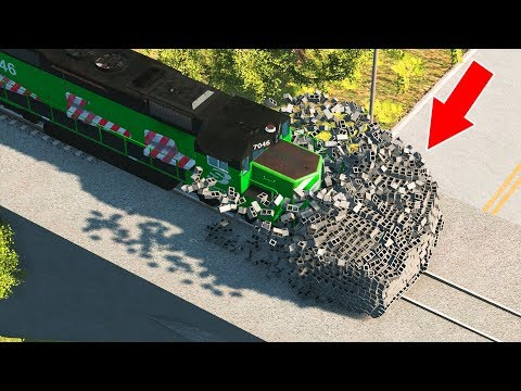 BeamNG Drive - Train accidents #1