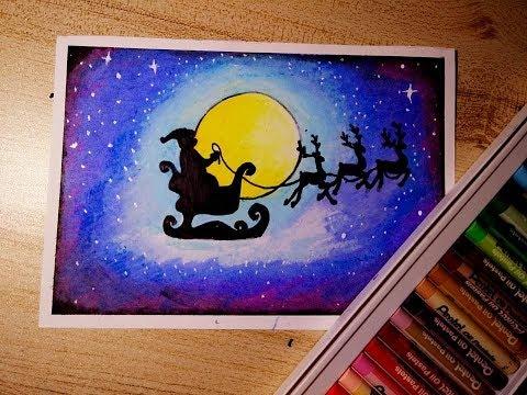 วาดซานตาคลอส กับ รถลากคู่ใจ | How to draw Santa Claus