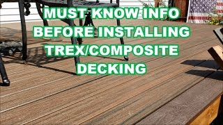 TREX Composite Decking Tips / Considerations Before Building  -  How to install deck that will last