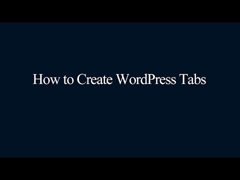 WordPress Tabs
