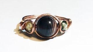 Easy Wire Wrap Ring - Anello Semplice Con Tre Perle