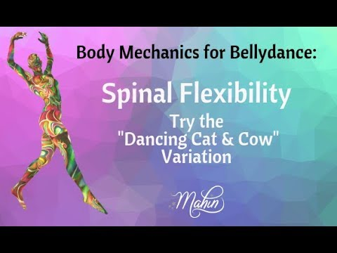 "⭐ ""The Dancing Cat"" for Belly Dance Spinal Flexibility ⭐"