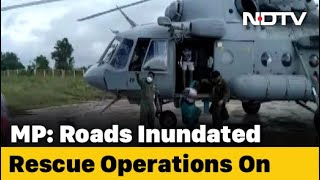 Watch: Air Force Chopper Lifts People From Madhya Pradesh Flooded Areas - Download this Video in MP3, M4A, WEBM, MP4, 3GP