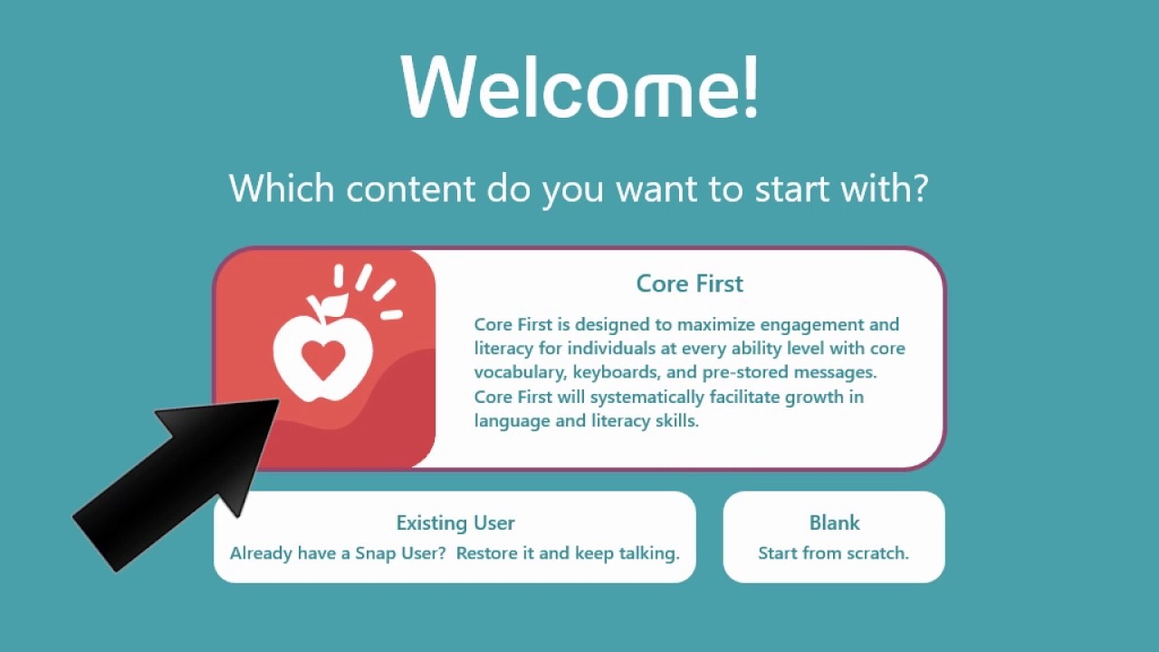 Snap + Core First- 3: Create a New User