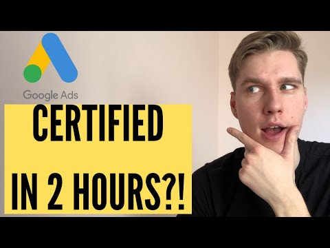 How long does it take to get google ads certified - YouTube