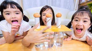 หนูยิ้มหนูแย้ม เล่นกิจกรรมเด็ก ตบไข่ลงแก้ว