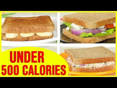 Video 3 Healthy Sandwich Recipes, Healthy Recipes For Weight Loss
