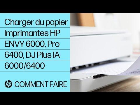 Comment charger du papier dans les imprimantes des gammes HP ENVY 6000/ENVY Pro 6400/DeskJet Plus Ink Advantage 6000/6400