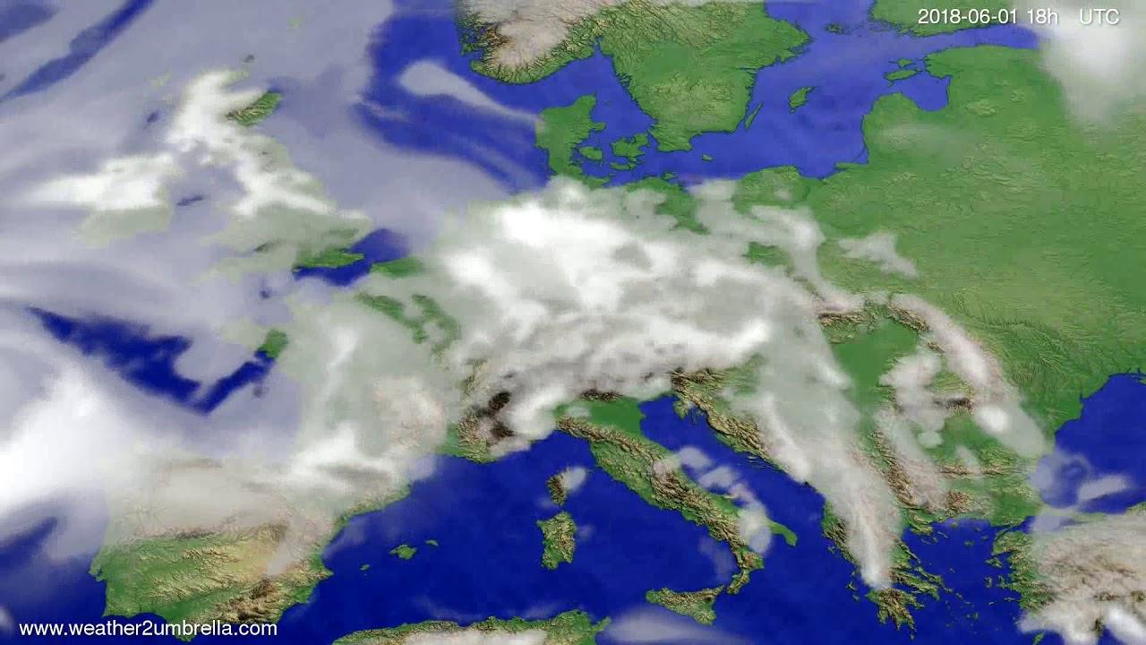 Cloud forecast Europe 2018-05-29