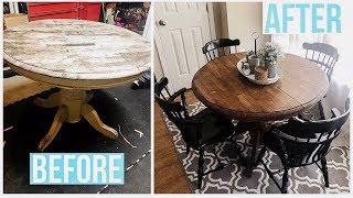 Breakfast Table Redo   Furniture Makeover   HazFam