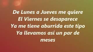 Lunes A Jueves  Leslie Grace Ft. Farina  Letra (Lyrcs)