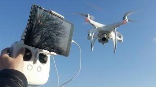 Квадрокоптер DJI Phantom 4 ... полеты, режимы, обзор