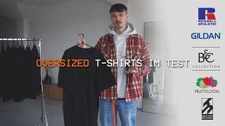 Ich Teste Oversized Merchandising T-Shirts. Gildan, Russell, B&C uvm.