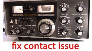 How To Fix Switch Contact Issue, Very Simple Way,  Ham Radio Ft-101 Yaesu Hf Transceiver