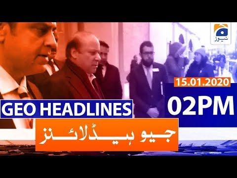 Geo Headlines - 02 PM | 15th January 2020
