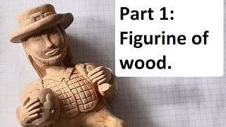 Wood Carving  A Wooden Sculpture Of A Leprechaun  Part 1 Figurine Of Wood DIY