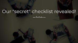 A sneak peak into our Trading Checklist [VIDEO]