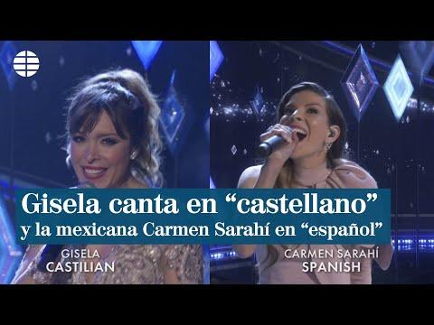 , title :'Gisela canta en 'castellano' y la mexicana Carmen Sarahi, en 'español''