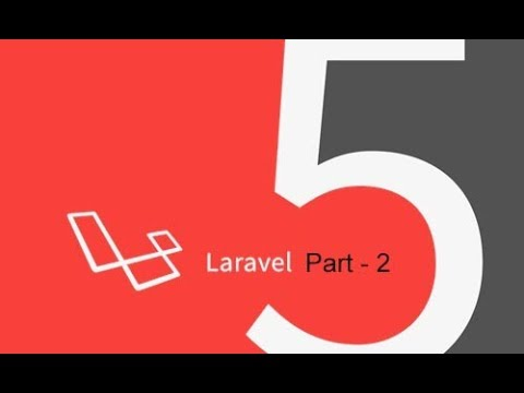 video tutorial on creating backend application - laravel project part 2