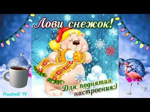 Красивое пожелание с добрым утром! Хорошего зимнего дня! Доброе утро!