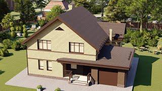 Проект дома 151-B, Площадь дома: 151 м2, Размер дома:  14x9,8 м