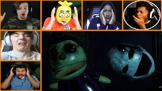 Let's Players Reaction To The Puppet Jumpscare | Final Nights 4 (Demo)