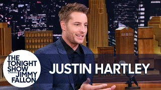 The Tonight Show Starring Jimmy Fallon : Justin Hartley Got Busted for Pretending to Be Ryan Reynolds for a Fan (21.11.17)