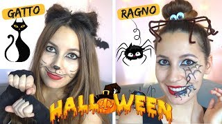 LOOK HALLOWEEN *spider And Cat Hairstyle*🐱🕷️