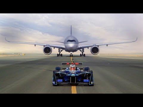 Qatar Airways - A350 v. Formula E ...!
