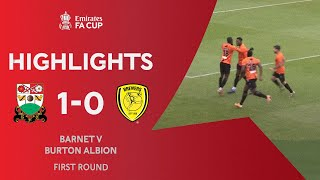 Fonguck Strike Wins It for The Bees! | Barnet 1-0 Burton Albion | Emirates FA Cup 2020-21