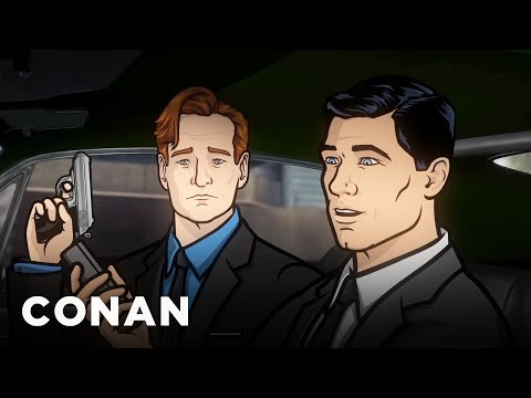 Watch Conan O'Brien Take Down Some Russians With Archer