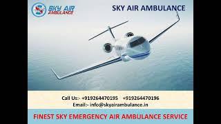 Advanced Emergency Air Ambulance Service in Jabalpur and Bagdogra