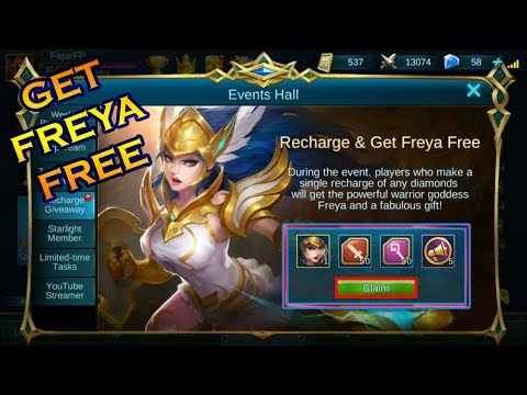 Video Mobile Legends - Cara Isi ulang Diamond & Mendapatkan Freya Gratis