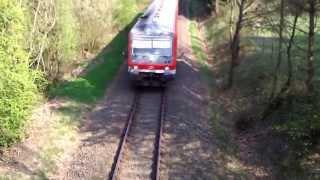 preview picture of video 'Wendlandbahn BR 628 bei Wendisch Evern'