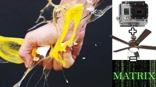 EPIC Matrix effect w/ a ceiling fan & 1 GoPro (ghetto bullet time)