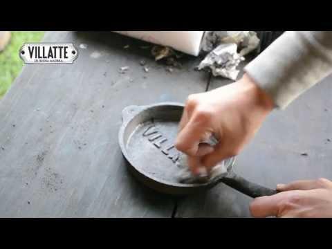 Tutorial curación sarten y provoletera hierro fundido o fundición VILLATTE
